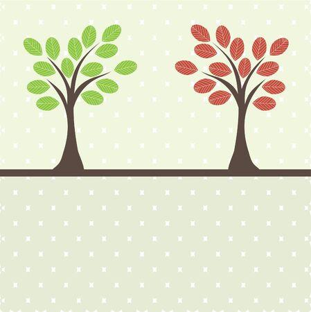 Retro tree . Stock Vector - 7547030