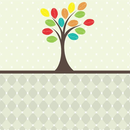 Retro tree .  Vector