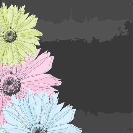 Abstract background with pastel flowers. Vector
