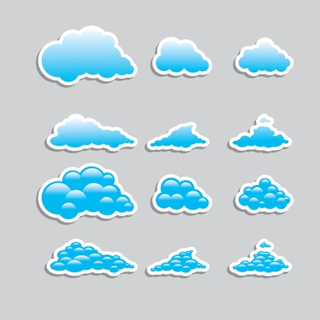 storm cloud: Universal icons - Set (Weather) for you Illustration