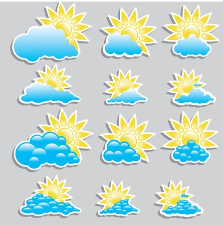 Universal icons - Set (Weather) for you Vector