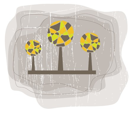 Retro tree. vector illustration Vector