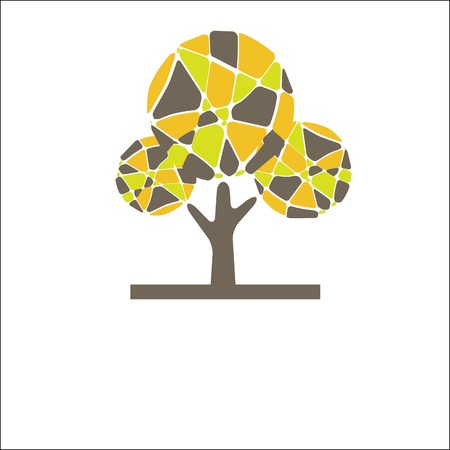Retro tree. vector illustration Stock Vector - 7656920