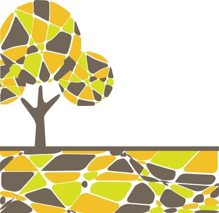 Retro tree. vector illustration Stock Vector - 7656919