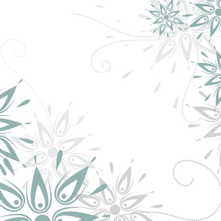 Vector grunge floral background Vector