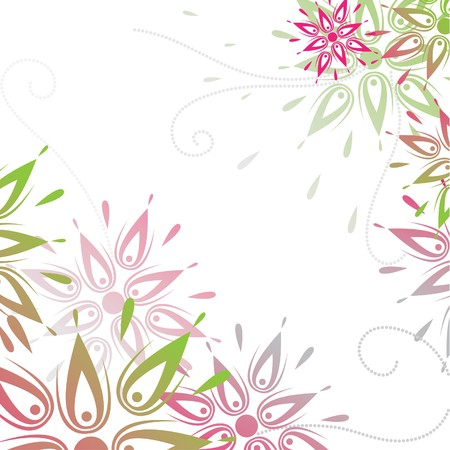 Vector grunge floral background Vector