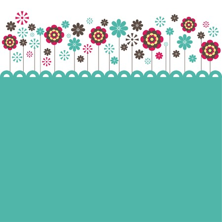 greeting card invitation wallpaper: Flowers. illustration Illustration