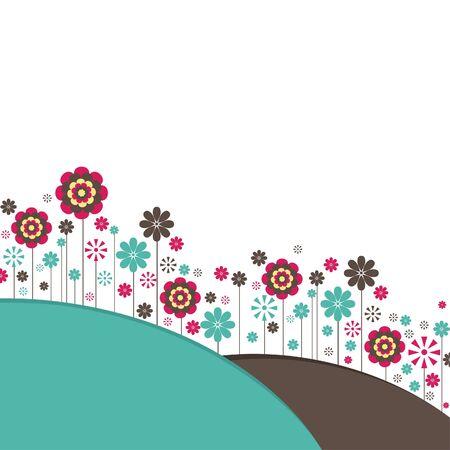Flowers. illustration Vector
