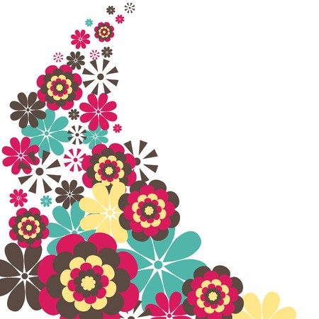 congratulatory: Flowers. illustration Illustration