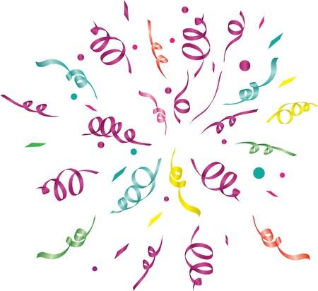streamers: confeti (fondo claro). Ilustraci�n