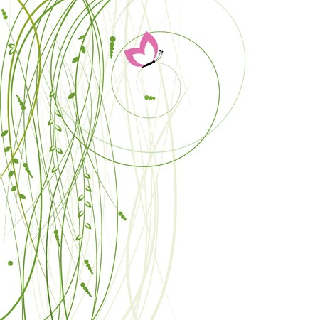 Abstract background with butterfly. Vector illustration Vector