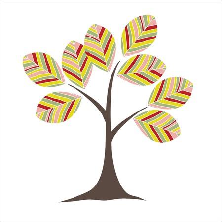 Retro colorful tree