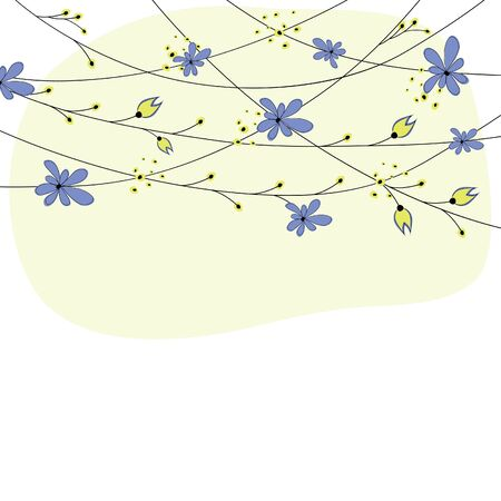 simple design: Abstract background with flowers. Vector illustration