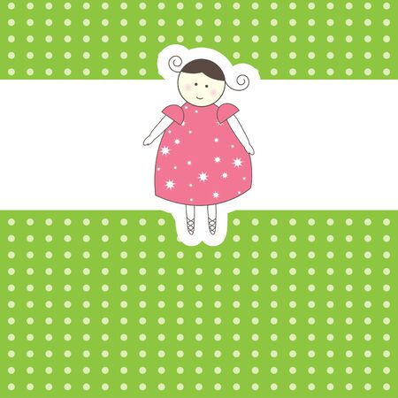 Baby arrival card. Vector illustration Stock Vector - 7867442