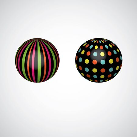 Abstract spheres. vector illustration illustration