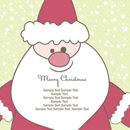 Christmas card with Santa. Vector illustration Stock Illustration - 7867475