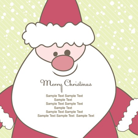 Weihnachtskarte mit Santa. Vektor-illustration  Standard-Bild - 7867475