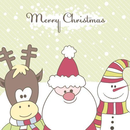 fairly: Santa, Reindeer, snow man