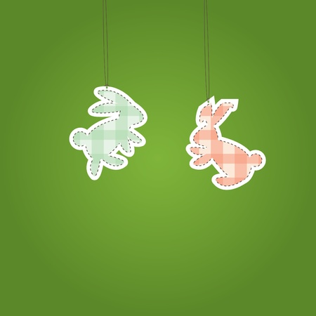 Two Christmas Hare  (rabbit).   illustration Vector