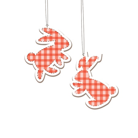 Two Christmas Hare  (rabbit).   illustration Illustration