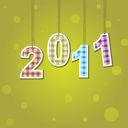 New Years card 2011 . illustration Stock Vector - 8387990