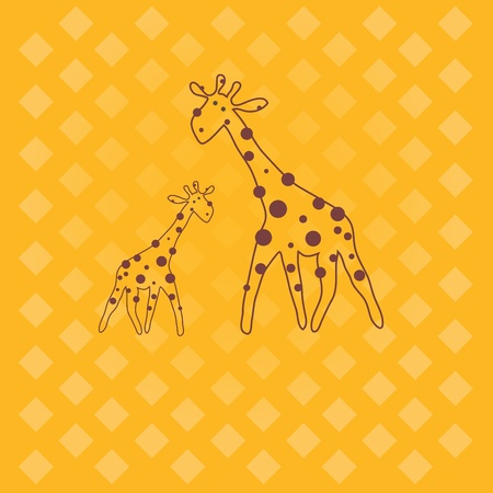 giraffe .   Stock Vector - 8630078