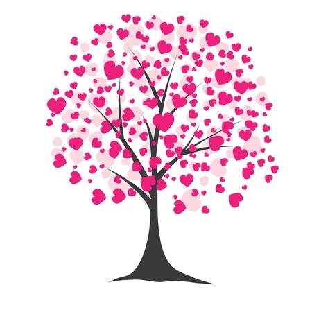 Baum mit Herzen. Vektor-illustration Standard-Bild - 8701257
