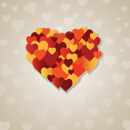Valentine's  heart. vector illustration Stock Vector - 8877249