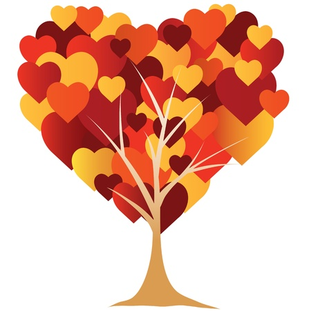 Valentines,  heart, tree. vector illustration Vector
