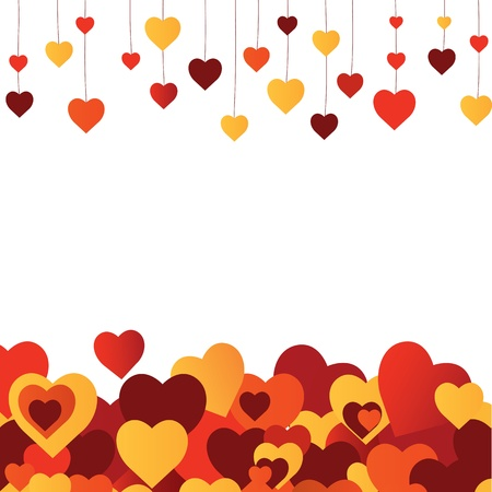 floral backgrounds: Valentines  heart. vector illustration