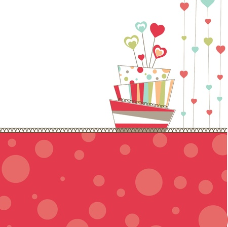 Valentines background with cake