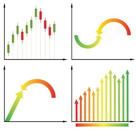 Candles diagram. illustration Vector
