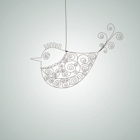 Abstract fish. illustration