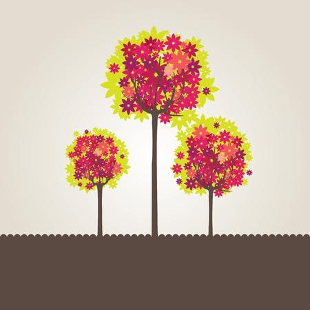 Abstrakt baum blumen. Vektor-illustration Standard-Bild - 9091023