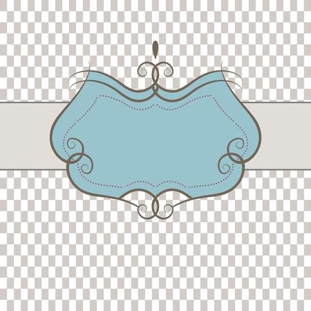 Template frame . illustration Vector