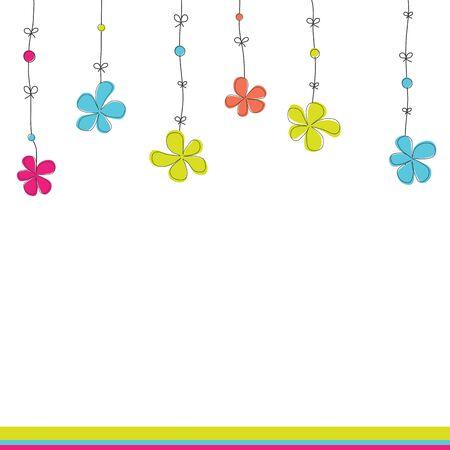 Hintergrund mit Blumen. Abbildung Standard-Bild - 9394265