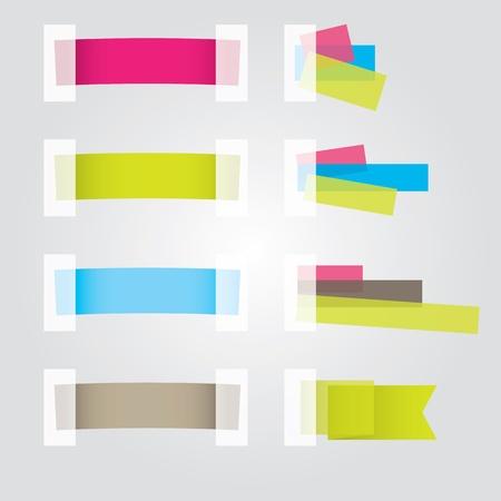 Web page Sticker Designs. Vector illustration Illustration