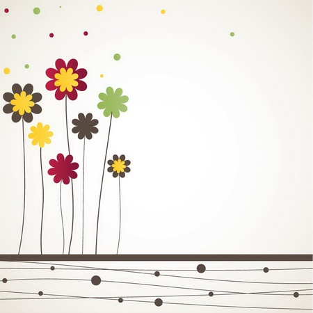 Background with flowers. illustration Stock Vector - 9608811
