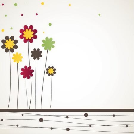 swirl backgrounds: Sfondo con fiori. illustrazione Vettoriali