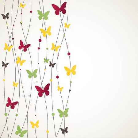 yellow butterfly: Background with Butterfly. illustration