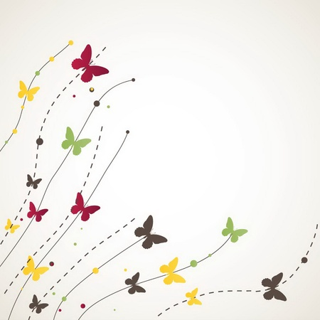 burmak: Background with Butterfly. illustration