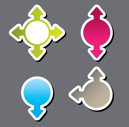 colorful vector sticker . Vector illustration