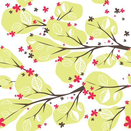 Background with  tree illustration Vector
