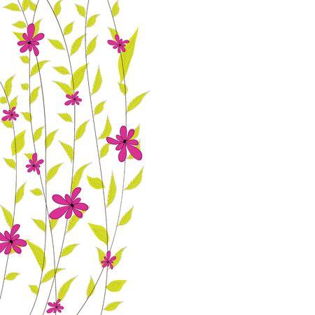 Arrière-plan avec une illustration de fleurs Vecteurs