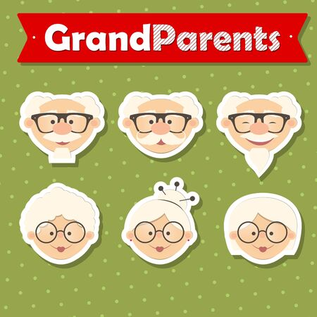 Happy Grandparent Day, vector illustration. Design for grandmother, grandfather Day. Can be used as a greeting card, flyer, poster, banner, for print, T-shirt.