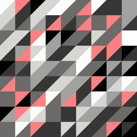 black white: Abstract triangle black gray white pink