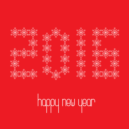 lightbox: Preview Save to a lightbox  Find Similar Images  Share Stock Vector Illustration: 2016 shaped from snowflakes. Happy New Year. Vector illustration. Illustration