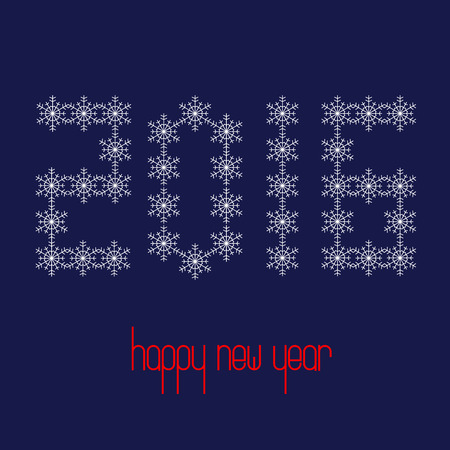 find similar images: Preview Save to a lightbox  Find Similar Images  Share Stock Vector Illustration: 2016 shaped from snowflakes. Happy New Year. Vector illustration. Illustration