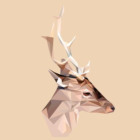 Deer low poly design. Triangle vector illustration.