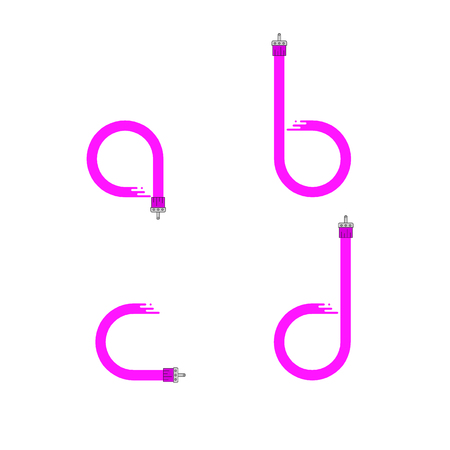dripping paint: Brush paint stroke alphabet. Letters a b c d. Dripping paint. Vector illustration.